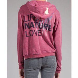 Freecity Life Nature Love Red Sweatshirt Hoodie
